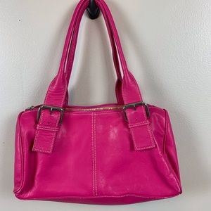 Vera Pelle leather handbag/ made in Italy / pink